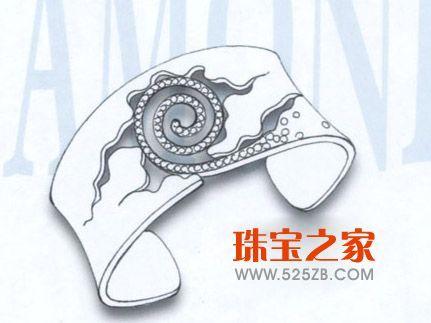 手绘首饰设计样稿欣赏(一)_珠宝设计_珠宝之家