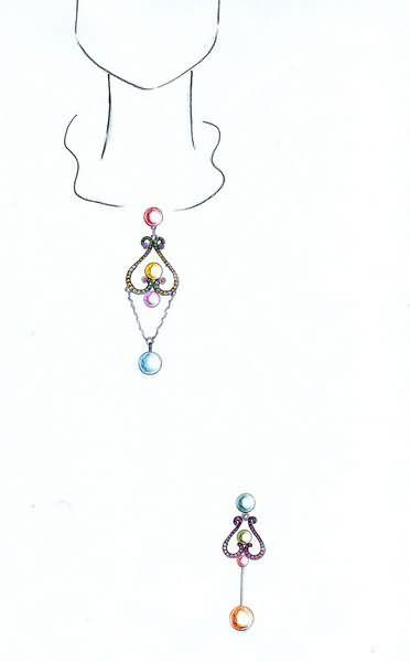 番禺珠宝设计师手绘作品选