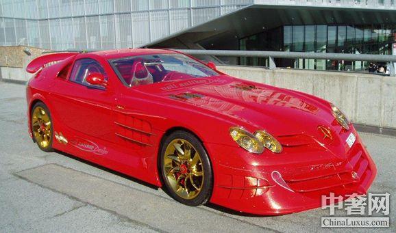 7百万英镑 黄金宝石打造的迈凯轮slr高清图片