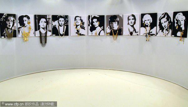 名媛画像戴珠宝 珠宝展览新创意_珠宝设计_珠宝之家