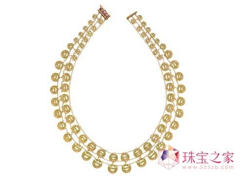 蒂芙尼金丝珐琅项链-诠释完美 奢华皇室气派的珠宝