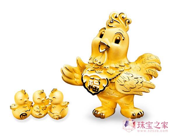 六福珠宝抢先呈献2017新春「金鸡报喜」