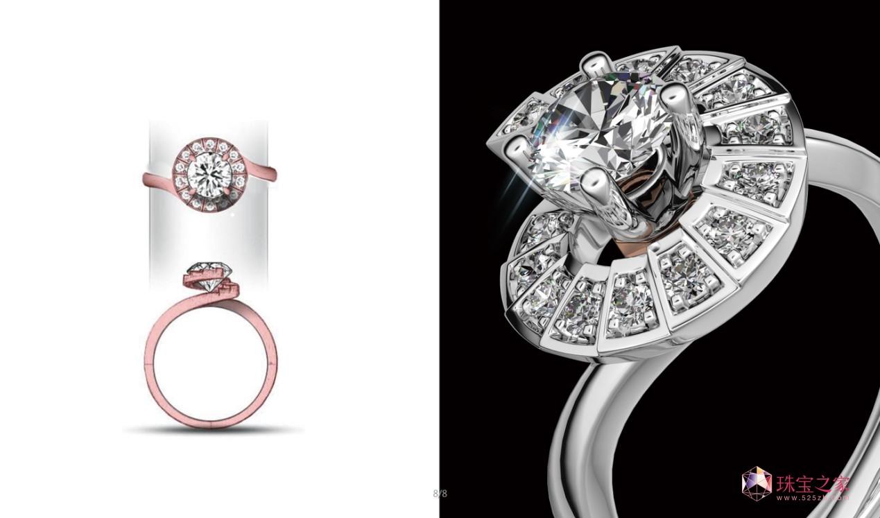 他把铁塔原件设计成八角形和铭牌造型,镶到戒指之上,让浪漫不仅在巴黎
